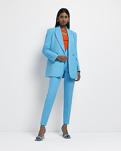 Blue cigarette trousers
