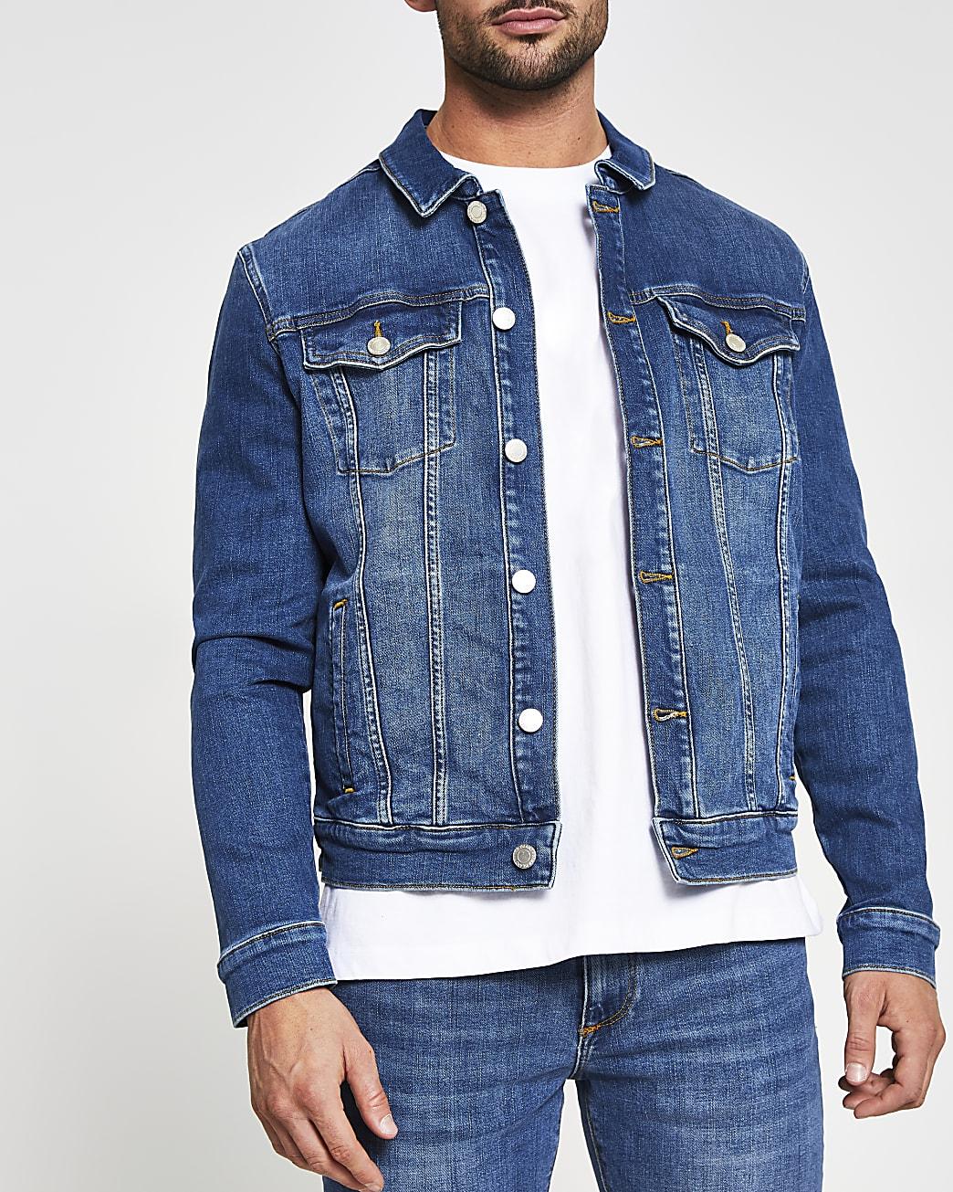 Blue classic denim jacket