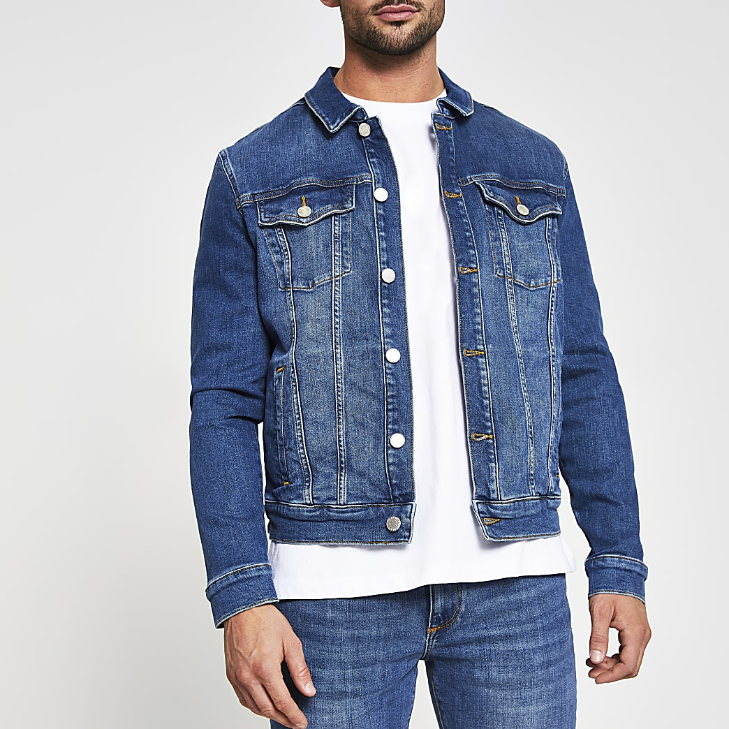 Blue classic denim jacket