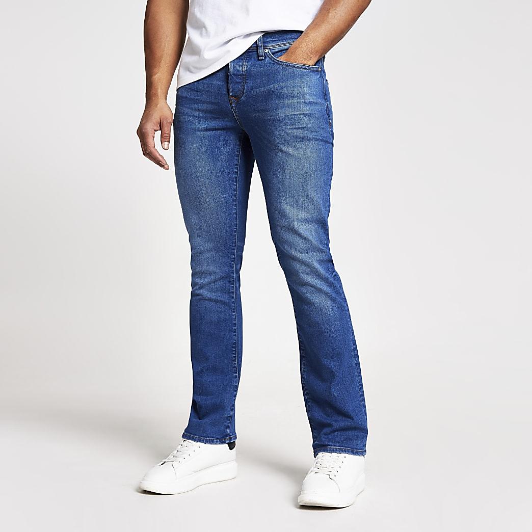 Blauwe stretch Clint jeans met bootcut