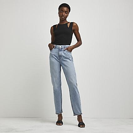 Blue comfort mom jeans