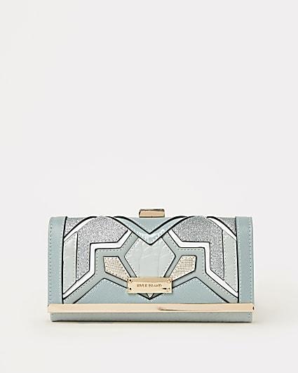 Blue cut out purse