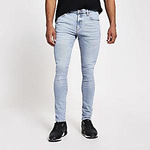 Danny – Blaue, superenge Skinny Jeans