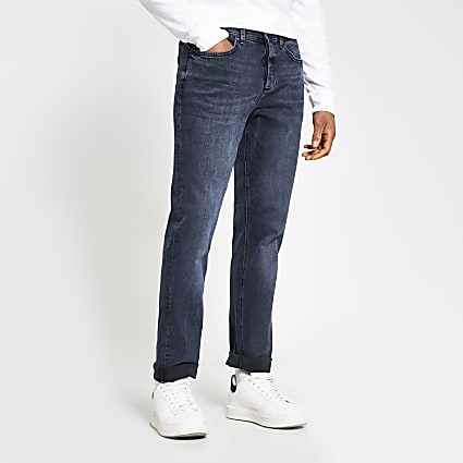 Blue Dean straight denim jeans