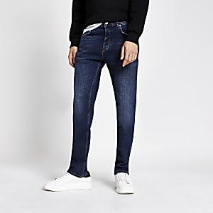 Dean - Blauwe jeans met rechte pijpen