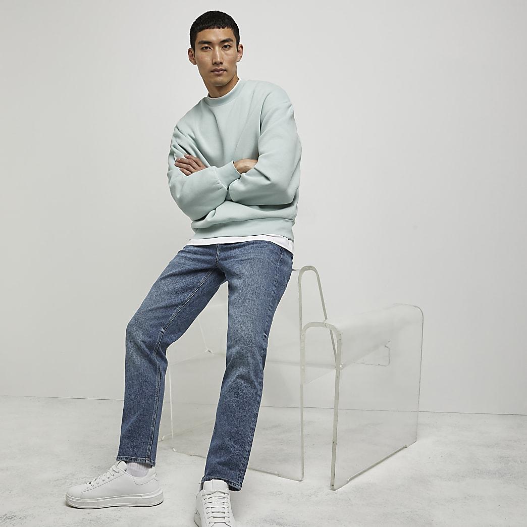 Blue Dean straight leg jeans