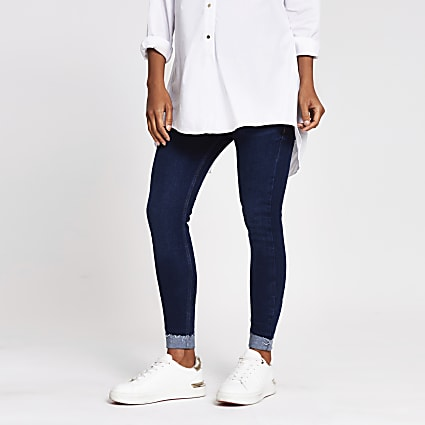 Blue denim Amelie maternity jeans