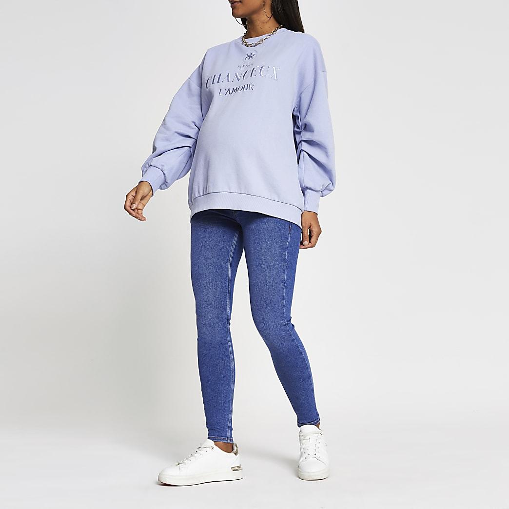 Blue denim Amelie maternity jeans