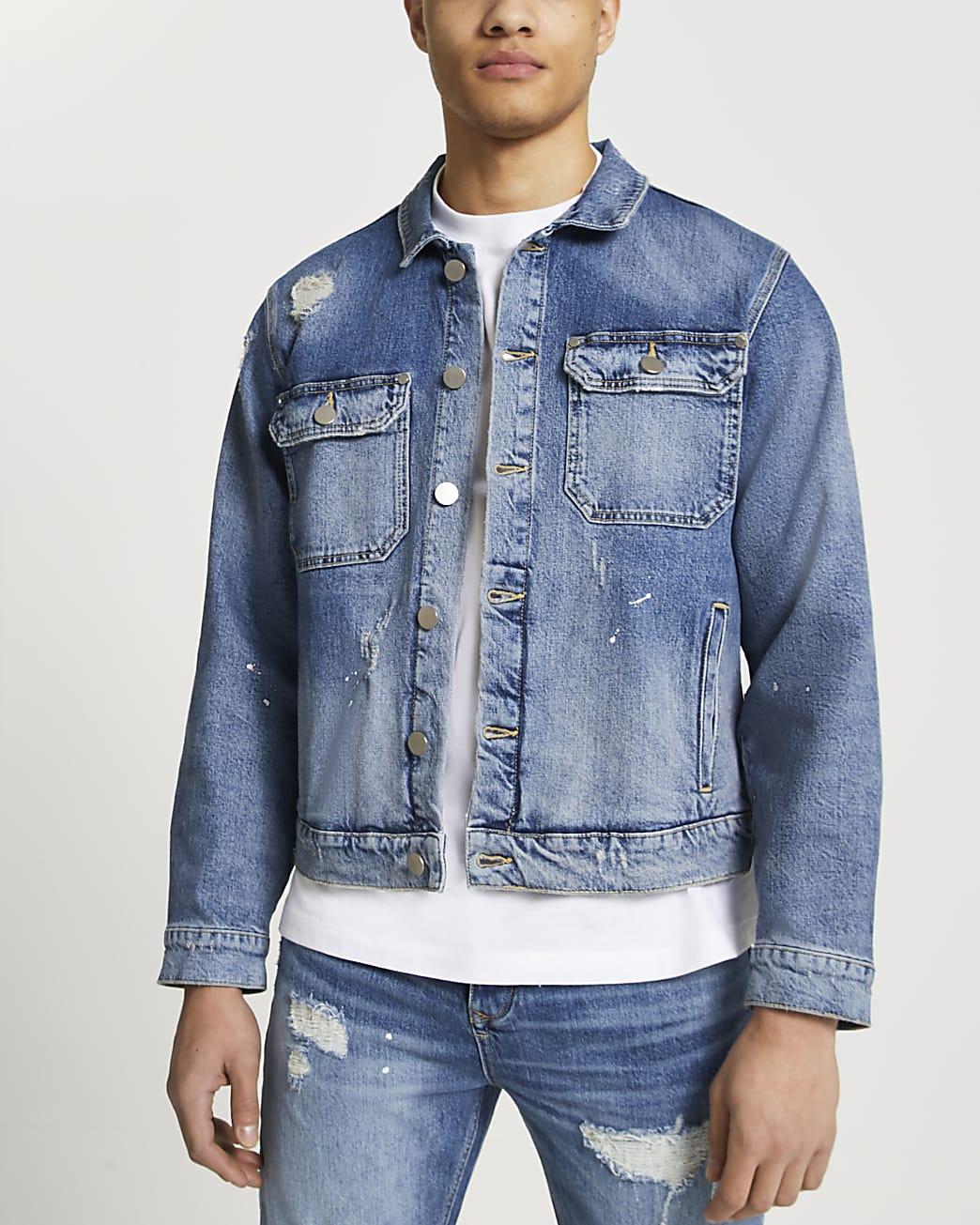 Blue denim jacket