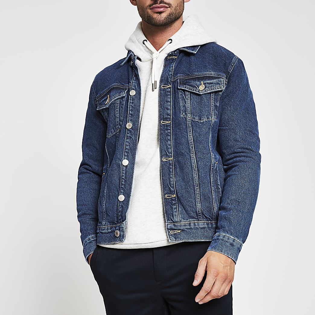 Blue denim western jacket