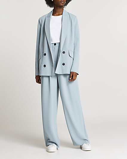 Blue double breasted blazer