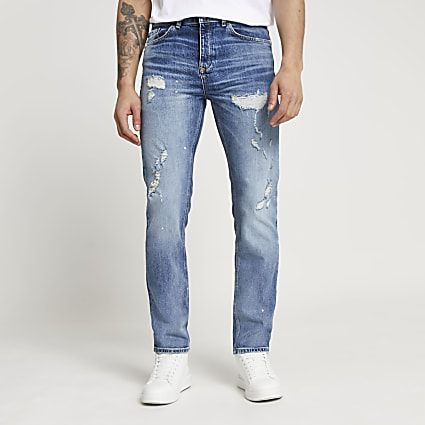 Blue Dylan ripped slim fit jeans
