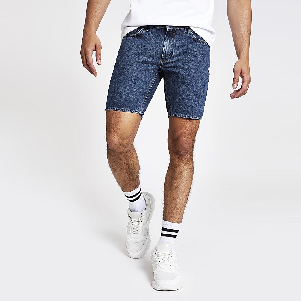 Blue Dylan slim fit denim shorts