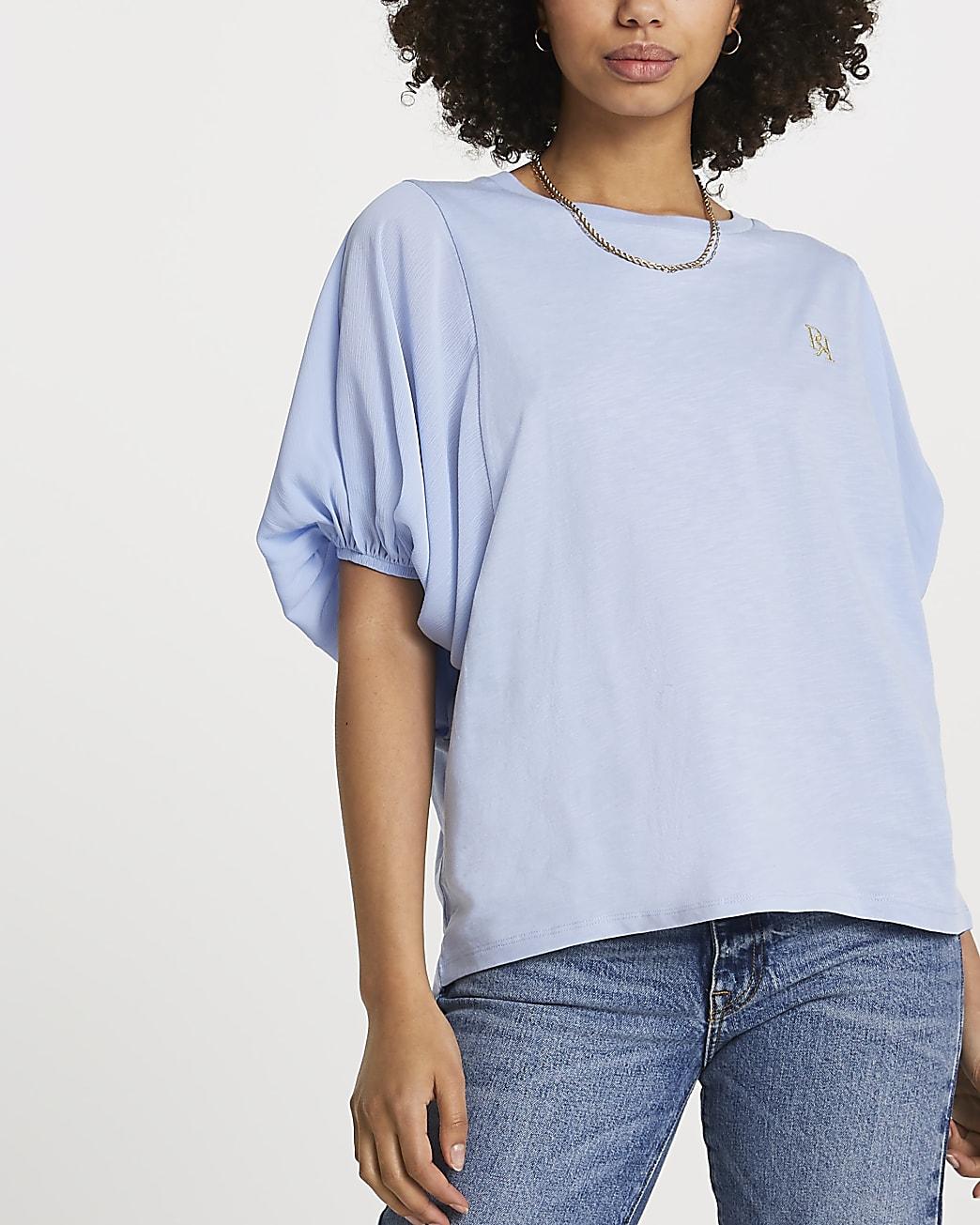 Blue FTBC Charity balloon sleeve top