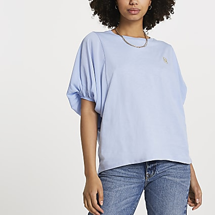 Blue FTBC Charity balloon sleeve top