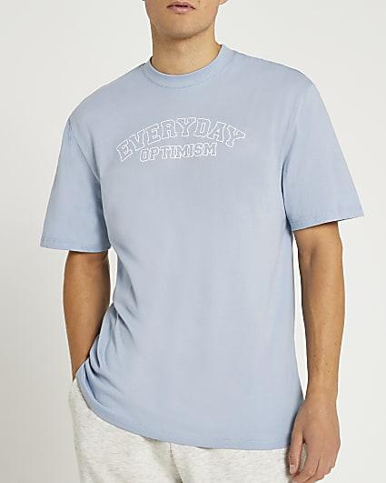 Blue graphic regular fit t-shirt