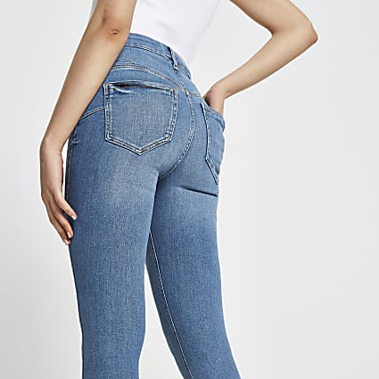 Blue high waisted skinny bum sculpt jean