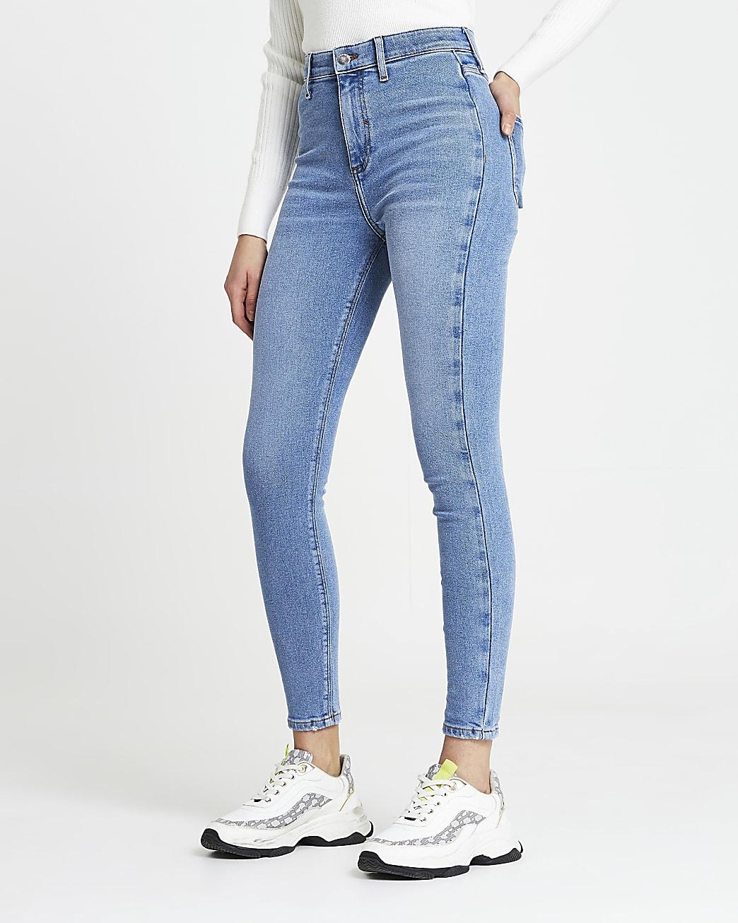 Blue Kaia high waisted jeans