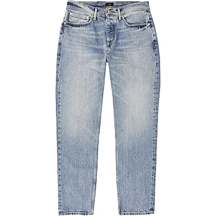 Blue light wash Dean straight fit jeans