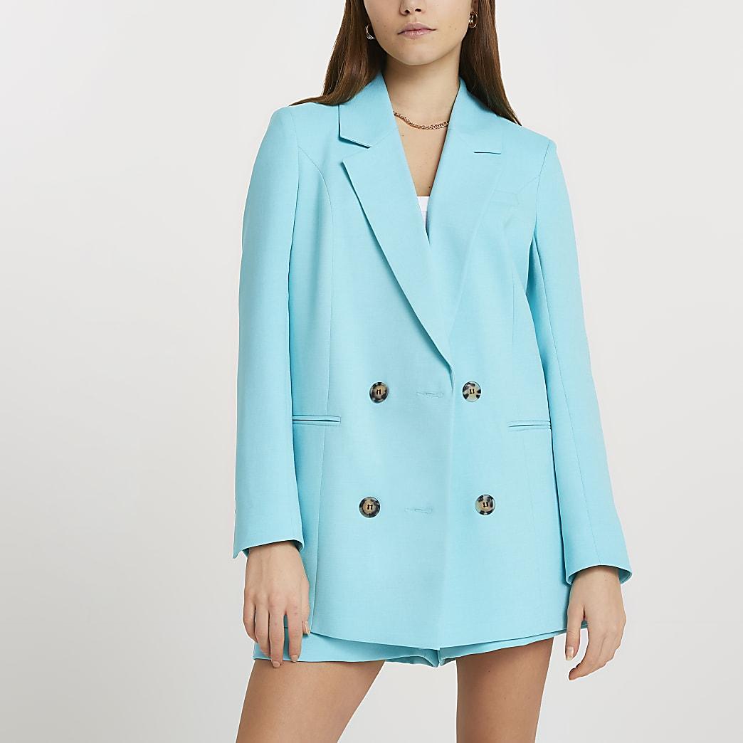 Blue long sleeve blazer