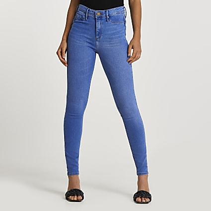 Blue Molly bum sculpt jeans