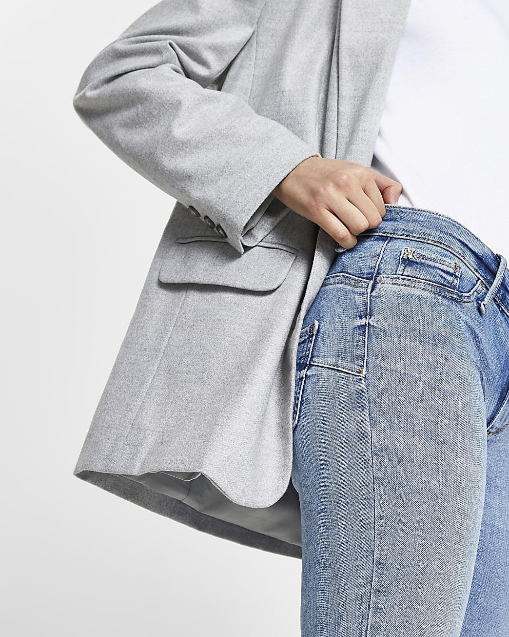 Blue Molly low rise skinny bum sculpt jeans