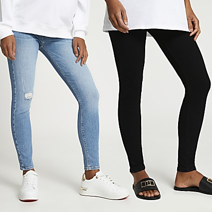 Blue Molly maternity multipack jeans