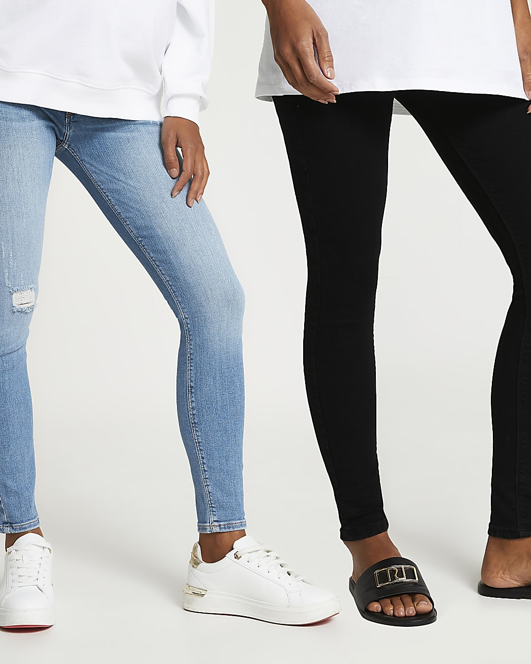 Blue Molly maternity skinny jeans multipack