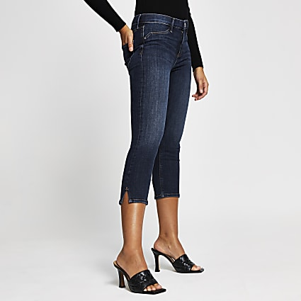 Blue Molly mid rise cropped jeans