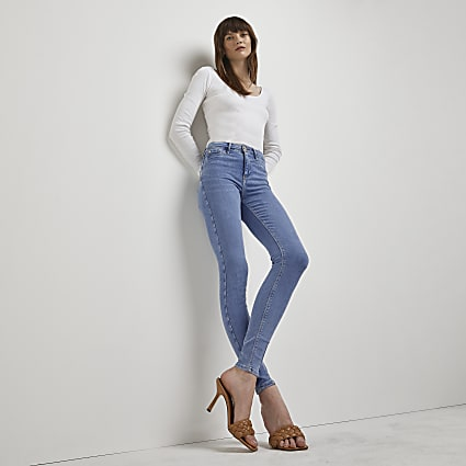 Blue Molly mid rise jeans
