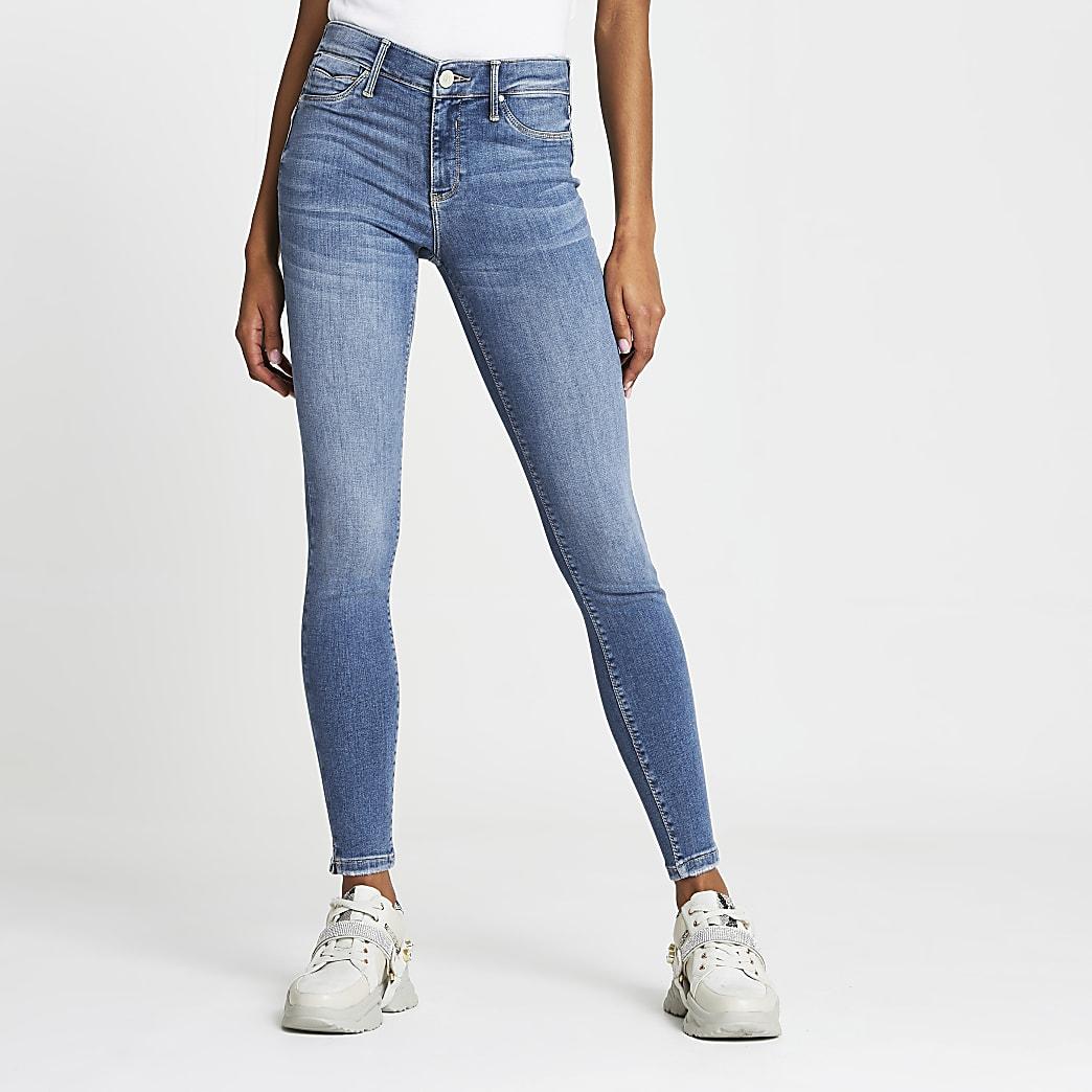 Blue Molly mid rise skinny bum sculpt jean