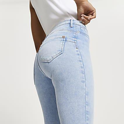 Blue Molly mid rise skinny bum sculpt jeans