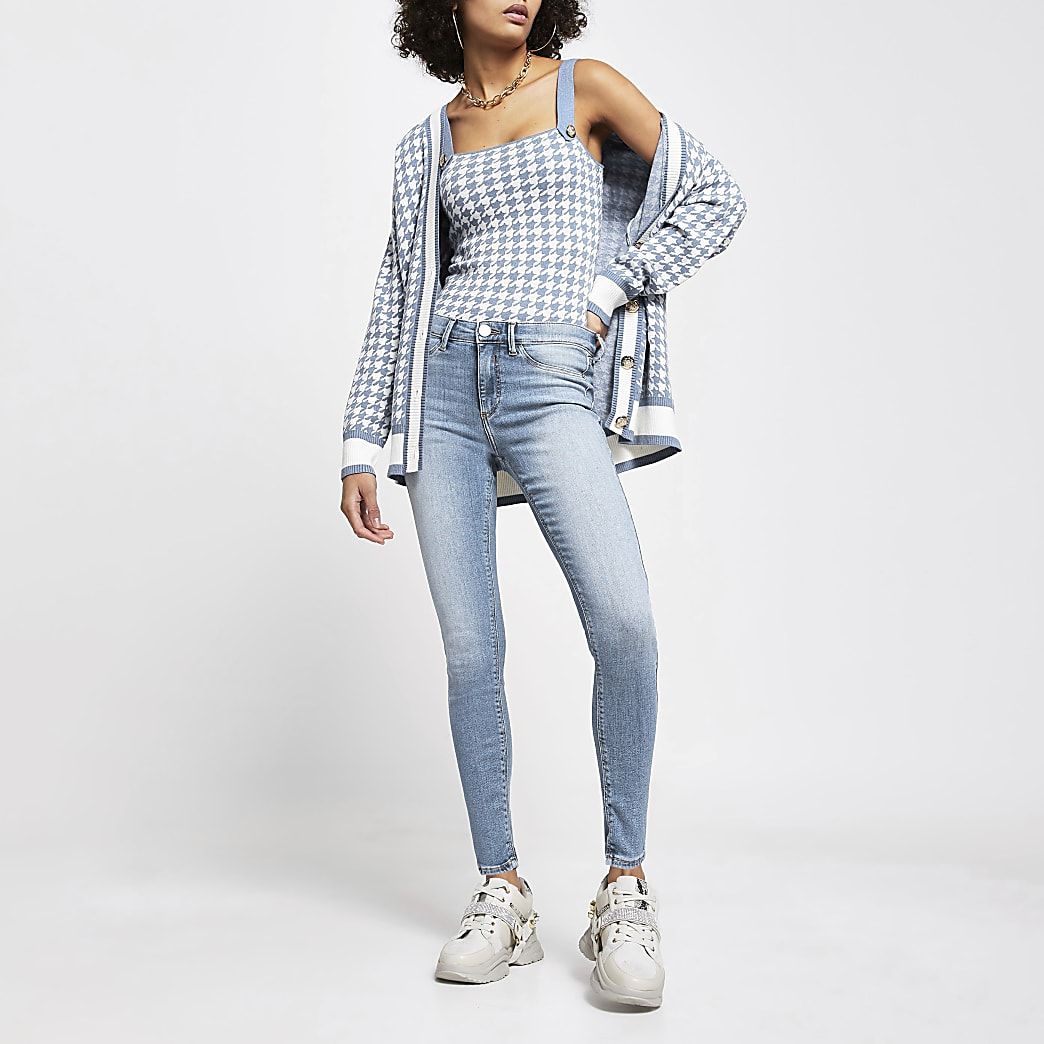 Blue Molly mid rise skinny jeans