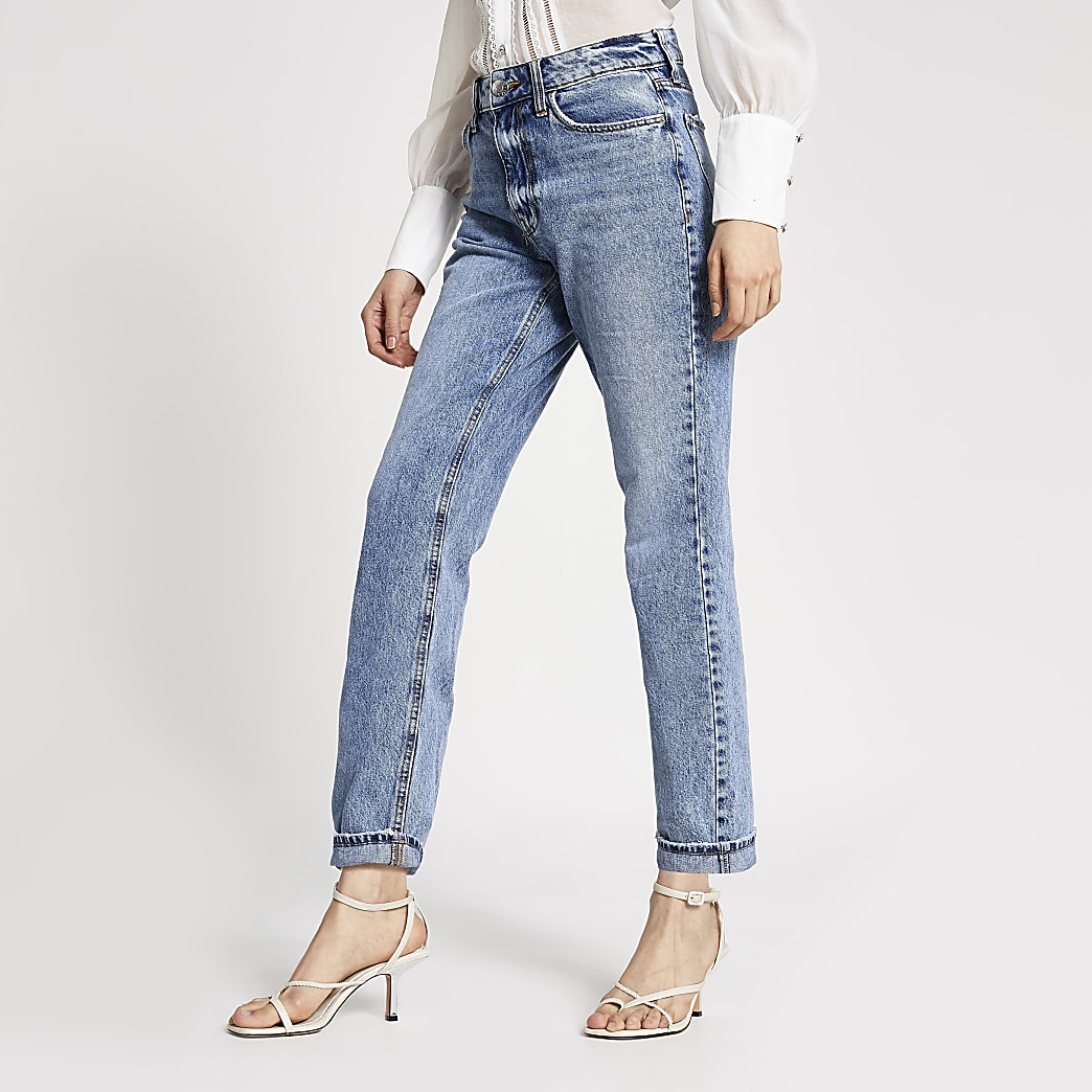 Blue Mom high rise jeans