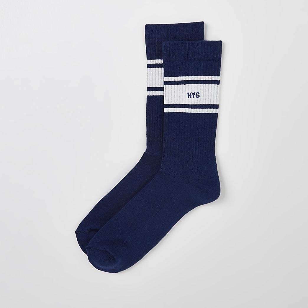 Blue NYC socks