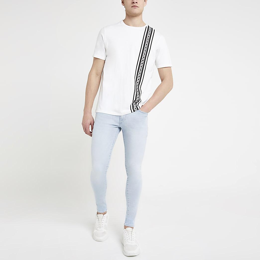Blue Ollie spray on skinny stretch jeans