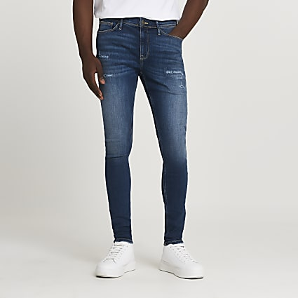 Blue Ollie spray on super skinny jeans