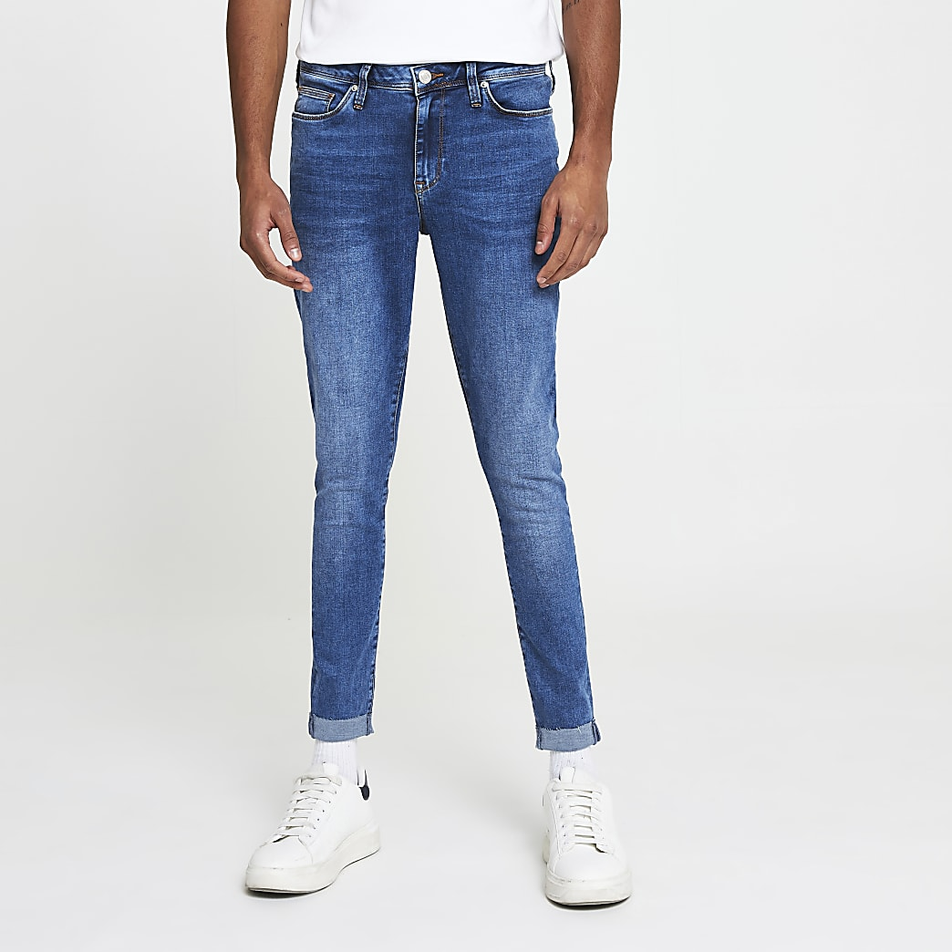 Blue Ollie turn up jeans