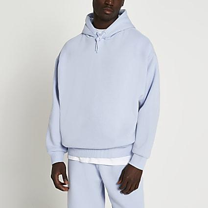 Blue oversized hoodie