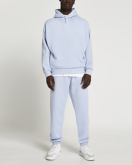 Blue oversized joggers