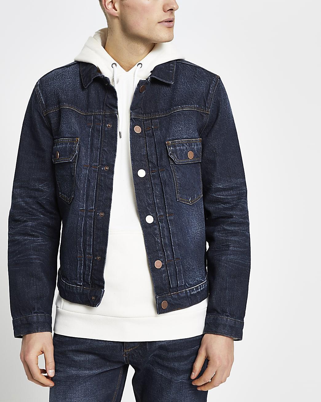 Blue premium denim jacket