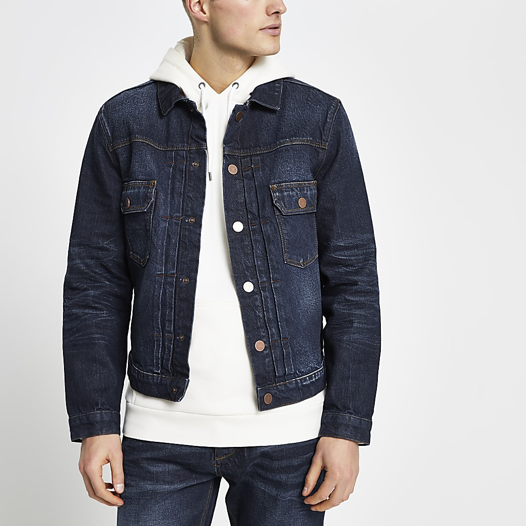 Blue premium denim jacket