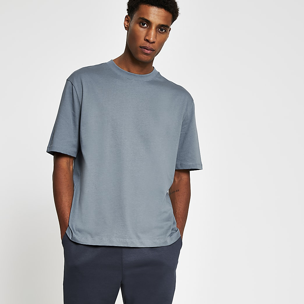 Blue premium oversized fit T-shirt