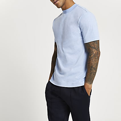 Blue premium slim fit t-shirt