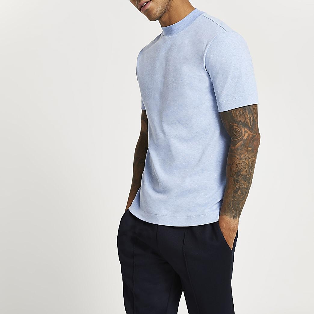 Blue premium slim fit t-shirt