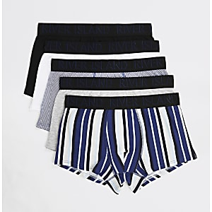 Blaue RI-Hipster-Slips mit Print im 5er-Pack