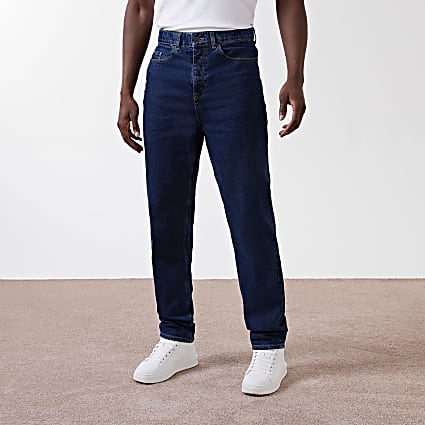 Blue relaxed fit true blue jeans