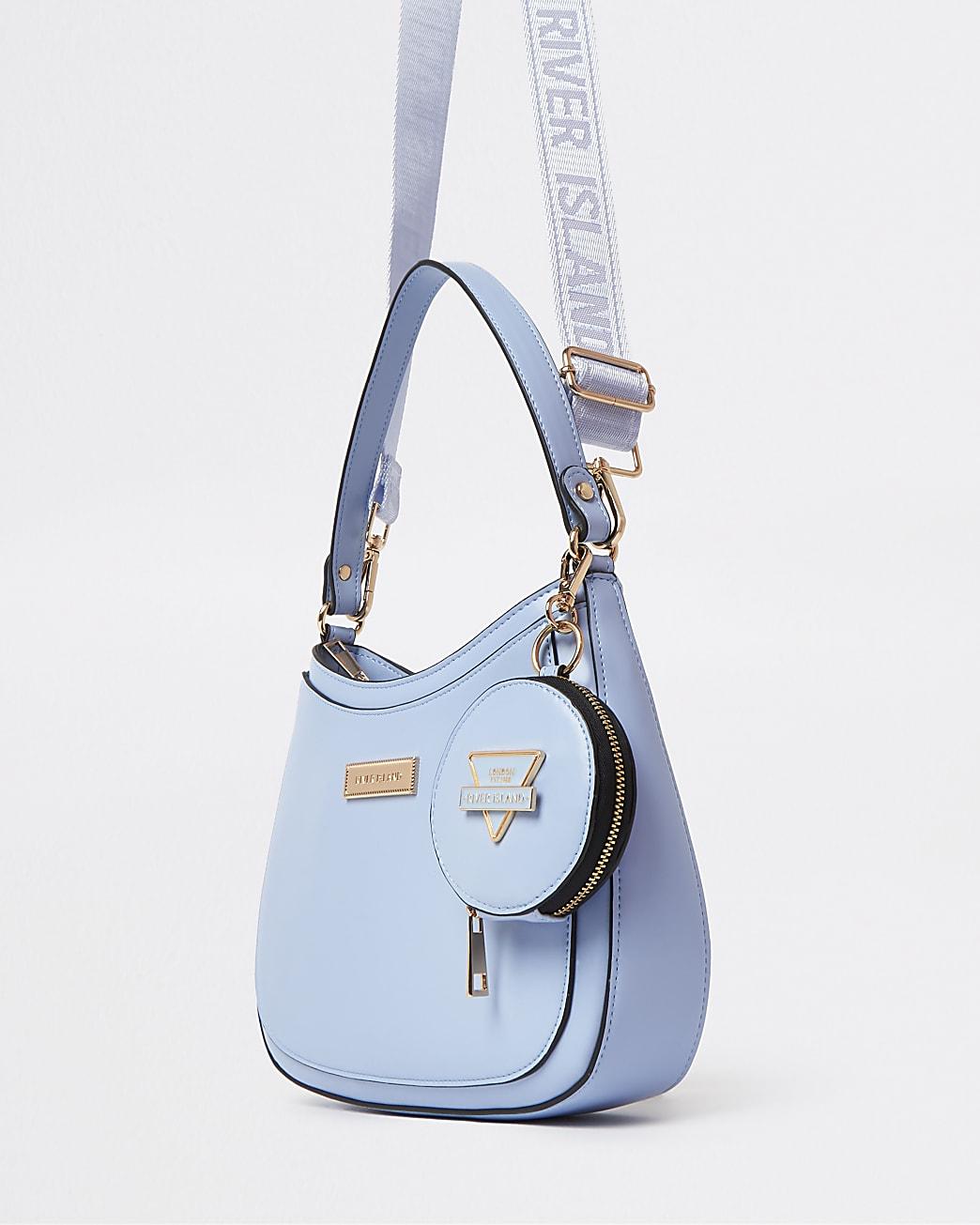 Blue RI branded shoulder bag