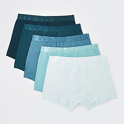 Blue RI branded trunks 5 pack