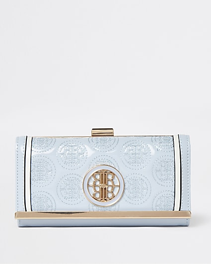 Blue RI embossed purse
